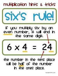"""Multiplication Hints and Tricks from Mrs Lane on TeachersNotebook.com (30 pages) """"Thanks Mrs Lane. I just learned some sh!! today"""""""