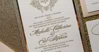 ABIGAIL Suite // STYLED // Fancy Package   Just Invite Me, Schaumburg, Illinois Wedding Invitations, Glitter Wedding Invitations, Blush and Gold Wedding, Elegant Wedding Invitations, Couture Wedding Invitations, http://justinviteme.com/collections/styled-...