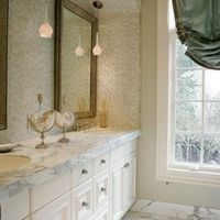 Carrara Marble Bath Design Ideas, Pictures, Remodel and Decor