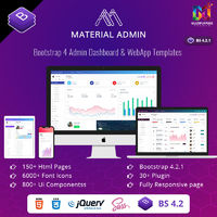 BUY NOW:- https://www.bootstrapadmintemplate.com/product/material-bootstrap-admin-template-web-apps/  Material is a Bootstrap Admin Template with an attractive design concept. The material comes with a mega menu and setting. Bootstrap Admin Template Com...