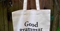 Good Grammar is Sexy Tote Bag by StudioNico on Etsy, $16.00