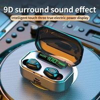 G20 TWS bluetooth Wireless Stereo Noise Reduction Headphones Touch Waterproof LED Digital Display Earphone with Charging Case