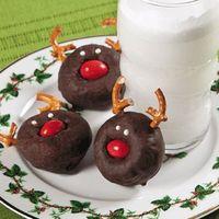 Reindeer donuts. Cute!!!!