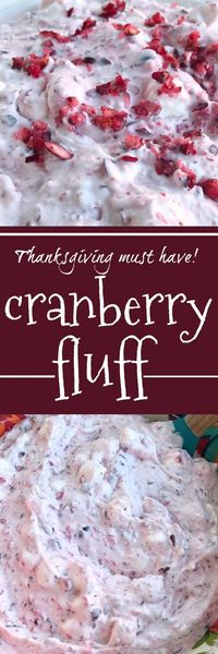 This cranberry fluff is sweet, tart, creamy, and the perfect side dish to your Holiday dinners. This cranberry fluff is hands down my favorite dish of Thanksgiv