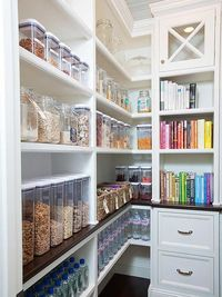 Dreaming of a beautifully organized kitchen pantry? We've found lots of inspirational ideas and organizational tips for creating your dream pantry, large or sma
