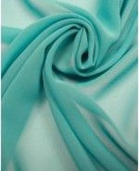 Teal Georgette Fabric. At Truro Fabrics.