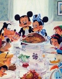 "|| Disney version of ""Freedom from Want,"" a 1943 oil painting by Norman Rockwell 
