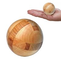 Wooden Puzzle Brain Teasers Toy Intelligence Game Sphere Magic Ball $21.80
