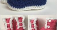 Crochet furry booties. Crochet patterns for sizes 3-12 months. Free pattern.