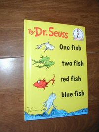 One Fish Two Fish Red Fish Blue Fish by Dr. Seuss (1960) for sale at Wenzel Thrifty Nickel ecrater store