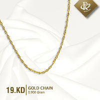 Add a touch of luxury and beauty with this Gold chain. �–� Product type: Gold Chain �–� Price: 19KD �–� Weight: 0.900 Grams �–� Free Delivery �–� Karat: 18 Karat �œ…100% Guaranteed Authentic & Pawnabl...