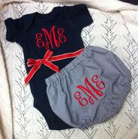 Monogrammed Baby Gift Set. JUST FYI feel free to get us this if we ever have a baby~n