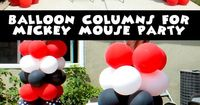 We walk you through the process for creating Balloon Columns for a Mickey Mouse Party with pictures and step by step instructions.