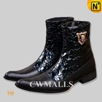 CWMALLS® Mens Black Short Dress Boots CW750223