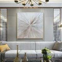 Modern art Abstract Original art silver painting acrylic painting on canvas art heavy texture Wall pictures cuadros abstractos hand painted $109.00