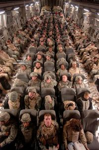 Off to war-sobering....I am so grateful to these men and women sacraficing so much for me and our country!