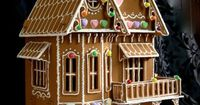 Faux Gingerbread DollHouse Victorian Style by Janie Champagnie #dollhouse #miniature #gingerbreadhouse #house