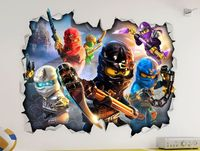 Lego Ninjago 3D Look Wall Vinyl Sticker Poster- Childrens Bedroom Playroom Mural | eBay