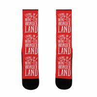 Who do you know who would love this? Living In A Wineter Wonderland US Size 7-13 Socks Handcrafted in the USA! $16.99