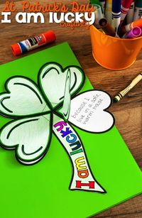 A fun St. Patrick's Day I Am Lucky Craftivity that helps students reflect on what makes them lucky. The St. Patrick's Day Craftivity includes the clover base an