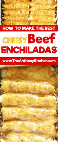 The only recipe you'll ever need for authentic Tex-Mex beef enchiladas. Featuring ground beef enchiladas, a homemade beef gravy, and a freshly grated cheese ble