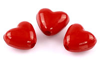 Pack of 200 Acrylic Red Love Heart Beads. Romantic Jewellery Making. 11mm x 10mm. £7.99