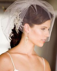 i don't want a long veil...maybe something like this for the ceremony?