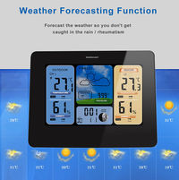 TS - E04 Multifunctional Color Screen Weather Forecast Thermometer and Hygrometer Radio Wave Electro