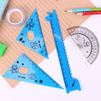 Pack of 4 Plastic Children's Rulers. Different Colours. Animal Theme School and Office Stationery Tools £4.69