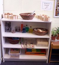 Here are some ideas and pictures of my preschool science center. These are displays you can change throughout the year. Find more science ideas on the Science R