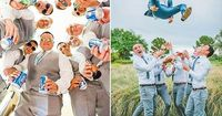 You already got a list of must have photos with your bridesmaids. It's only fair we gathered a similar gallery of awesome groomsmen photos you can't miss!