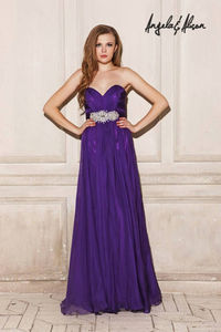 Long Purple Sweetheart Angela and Alison 21037 Prom Gown