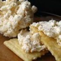 Crab dip. Love this!! My mom makes this served in a French bread bowl, then you use the bread pieces for dipping!