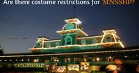 Are there costume restrictions for Mickey's Not So Scary Halloween Party?
