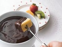 Dip into the dark, rich pleasure of chocolate fondue! Four ingredients are all it takes to make this indulgent treat.
