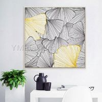 Abstract floral painting Gold art acrylic Paintings on Canvas extra Large framed Wall Art Pictures Original Art Wall Decor $148.75