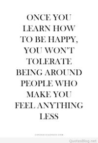 Learn how to be happy quote image