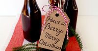 An easy recipe for homemade blackberry syrup. The perfect homemade holiday gift idea!