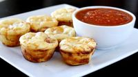 Pepperoni pizza puffs.... great for finger foods at a party or perfect for the little kiddos!