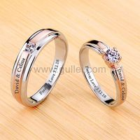 18KGP 0.25 Carat Diamond Weddings Bands Set Pt950 Plated Silver https://www.gullei.com/18kgp-pt950-plated-silver-0-25-carat-diamond-weddings-bands-set.html