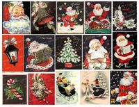 Vintage Greeting Cards, Christmas Cards, Ephemera, Vintage Christmas Cards, Junk Journal Images, Christmas Printable Scraps, Collage