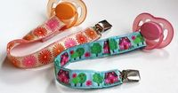 How to make pacifier clips with ribbon | Design Inspiration