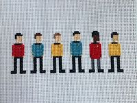 Original Star Trek Crew Cross Stitch. In theory, the chart could be adjusted for other Trek characters.
