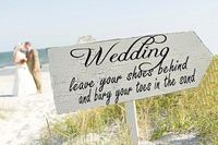 Beach Wedding Signs Wedding - Click image to find more Film, Music & Books Pinterest pins