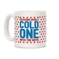 Cracking Open A Cold One With The Boys Ceramic Coffee Mug $14.99 �œ� Handcrafted in USA! �œ� Support American Artisans
