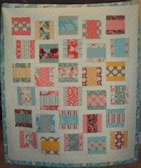 Scrap Quilt Idea--modified rail fence with interior sashing. | See more about rail fence, scraps quilt and special gifts.