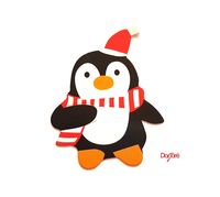Pack of 50 Xmas Paper Penguin or Santa Claus Cards. Christmas Nature Theme Scrapbooking Embellishments £4.99