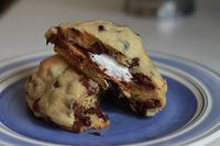 Smore Stuffed Chocolate Chip Cookies...no campfire needed.