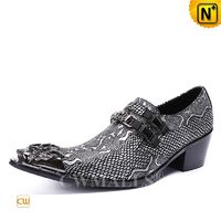 Patented Leather Shoes | CWMALLS® Men Embossed Dress Shoes CW708002[Limited Edition, Father's Day Gift]