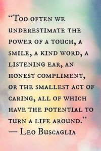 The power of the little things.